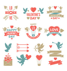 different symbols and labels for day of st vector image vector image
