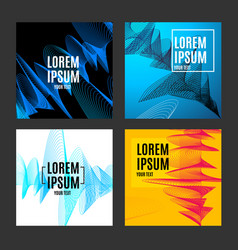 placard poster or flyer template set with vector image vector image
