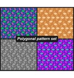 Polygonal pattern set vector image vector image