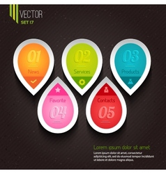 Set of five colorful icons vector image vector image
