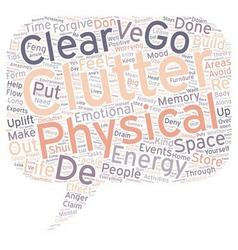 Declutter your life text background wordcloud vector