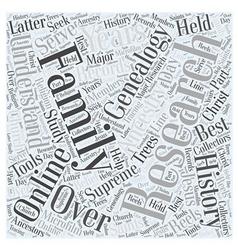 genealogy online Word Cloud Concept vector image
