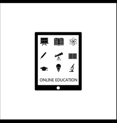 online education solid icon set e-learning vector image vector image