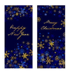set of christmas new year banners 2017 vector image vector image