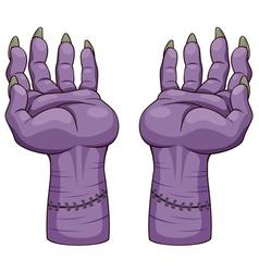 Zombie hands vector image vector image