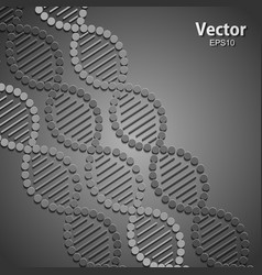 Abstract background with dna strand molecule vector