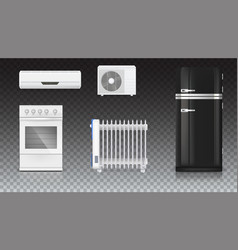 air conditioning electric oil radiator vector image