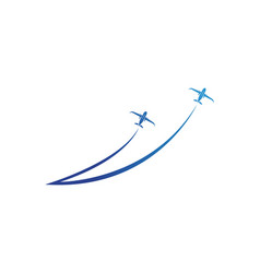 aircraft airplane airline logo label journey air vector image