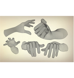 allhands vector image