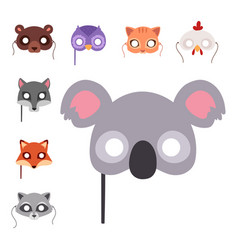 Animals carnival mask festival decoration vector