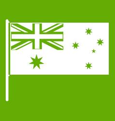 australian flag icon green vector image