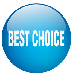 Best choice blue round gel isolated push button vector