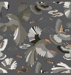 birds blue jay falcons in flight vector image