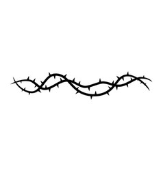 Blackthorn branches with thorns icon isolated on vector