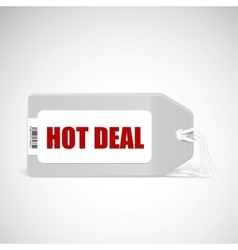 Blank price tag isolated on white with text Hot vector image