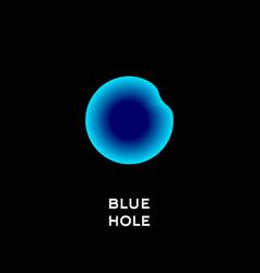 Blue hole diving logo vector