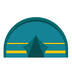 blue touristic camping tent icon isolated vector image