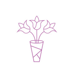 bouquet icon design template isolated vector image