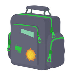 Boy school bag icon cartoon style vector