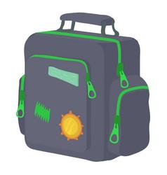 boy school bag icon cartoon style vector image