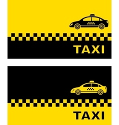 Business card with taxi car vector