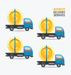 Business delivery service money design concept vector image