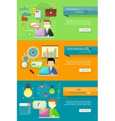 Business Strategy Performance Analysis Research vector image