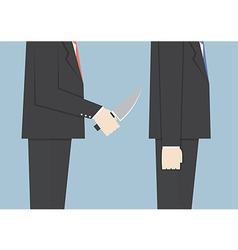 businessman stabbing his friend in back vector image