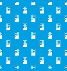 chocolate bar pattern seamless blue vector image