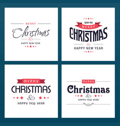 Chrismtas typographic sets light vector