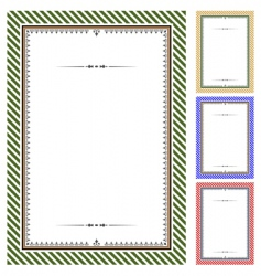 classical frames vector image