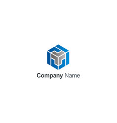 cube 3d maze company logo vector image