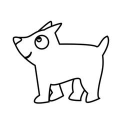 cute little dog mascot vector image
