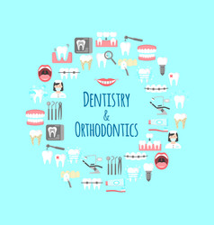 dentistry and orthodontics banner vector image