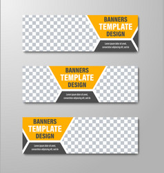 design of horizontal web banners with place for vector image