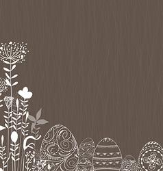 Easter eggs ornament background vector