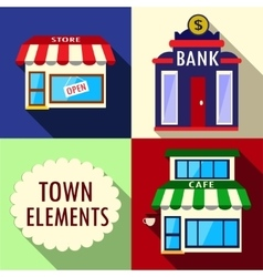 Elements for city vector