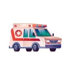 emergency ambulance van first aid medical car icon vector image