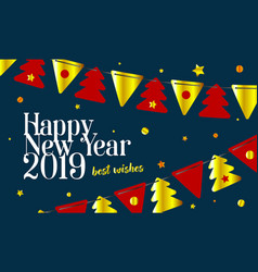festive background 2019 happy new year and merry vector image