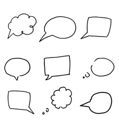 free hand drawing of speech bubbles vector image