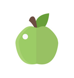 Fresh green apple badge health vector