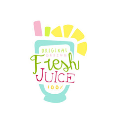Fresh juice 100 percent logo original design vector