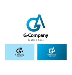 G company logo template design vector