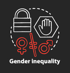 Gender inequality chalk concept icon sex vector
