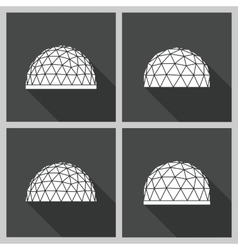 Geodesic dome flat vector