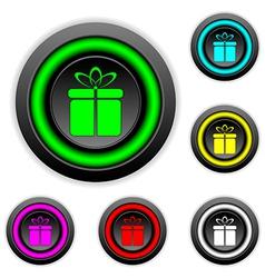 Gift buttons set vector