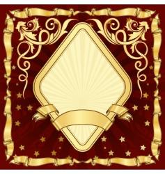gold vintage diamond frame vector image