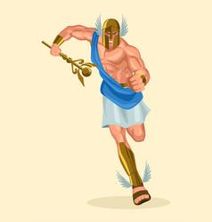 greek gods and goddess hermes vector image