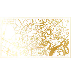 ho chi minh vietnam city map in retro style vector image