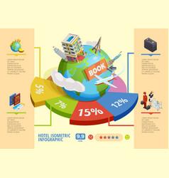 Hotel isometric infographics vector